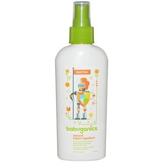 BabyGanics, 天然防蚊劑,無臭,6盎司(177 ml)