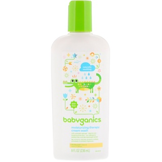BabyGanics, Moisturizing Therapy Cream Wash, Naturally Soothing, 8 fl oz (236 ml)