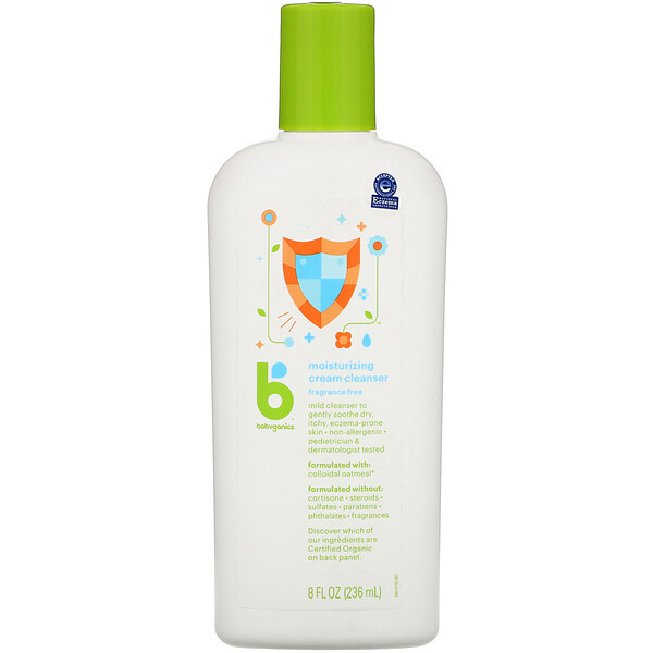 BabyGanics, Moisturizing Cream Cleanser, Fragrance Free, 8 fl oz (236 ml) (Discontinued Item)
