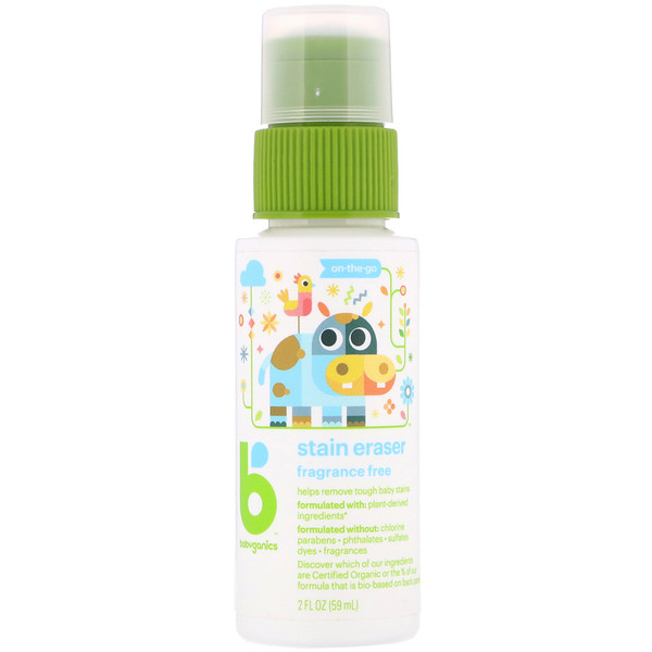 BabyGanics, Quita manchas, On-The-Go, sin fragancia, 2 fl oz (59 ml) (Discontinued Item)