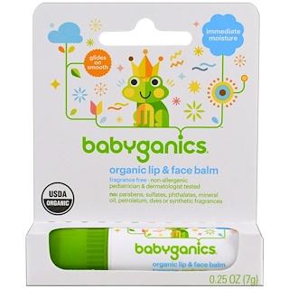 BabyGanics, Protetor labial e facial orgânico, 7 g