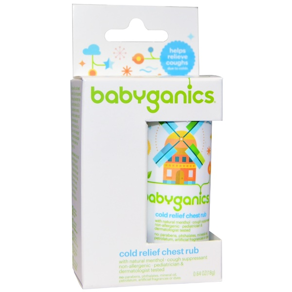 BabyGanics, Cold Relief Chest Rub, 0.64 oz (18 g) (Discontinued Item)