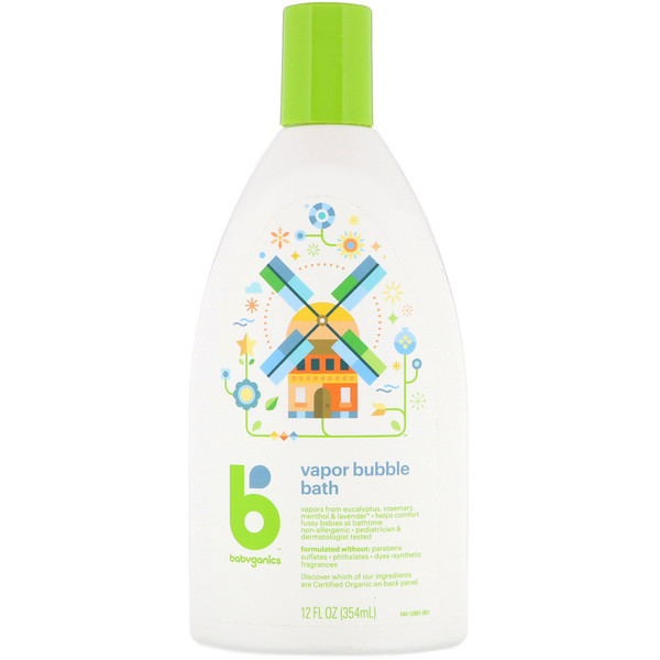 BabyGanics, Espuma de Banho Vaporizante, 12 fl oz (354 ml)