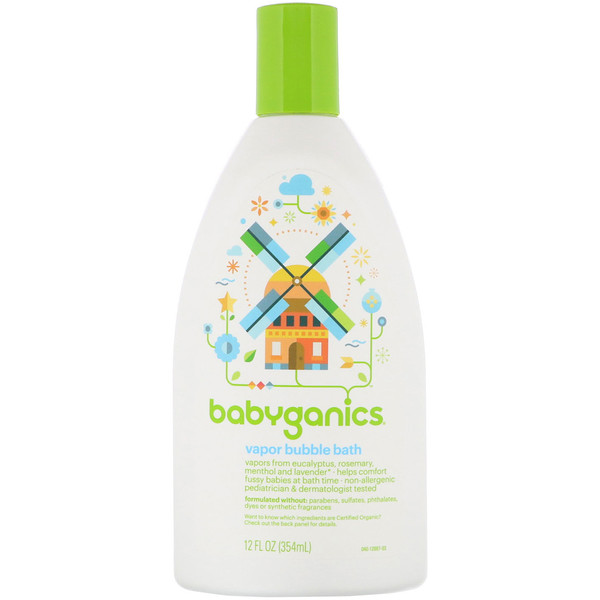 BabyGanics, Vapor Bubble Bath, 12 fl oz (354 ml)