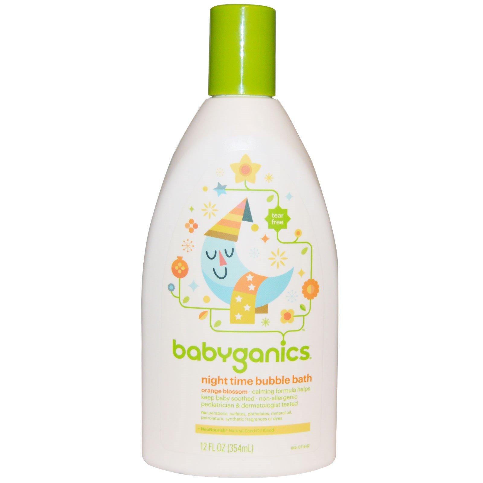 BabyGanics, Вечерняя пена для ванн, Цветущий апельсин, 12 унций (354 мл)