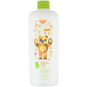БэбиГаникс, Alcohol-Free Foaming Hand Sanitizer, Refill Size, Mandarin, 16 fl oz (473 ml) отзывы покупателей