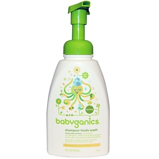 BabyGanics, Xampu + Bodywash, Verbena Camomila, 16 onças fluidas (473 ml)