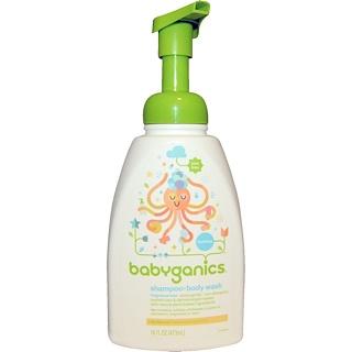 BabyGanics, Shampoo + Bodywash, Fragrance Free, 16 fl oz (473 ml)