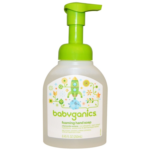 BabyGanics, Foaming Hand Soap, Chamomile Verbena, 8、45 fl oz (250 ml)