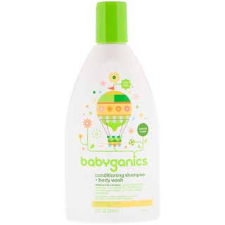 BabyGanics, Conditioning Shampoo + Body Wash, Chamomile Verbena, 12 fl oz (354 ml)