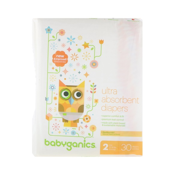 Ultra Absorbent Diapers, Size 2, 12-18 lbs (5-8 kg), 30 Diapers