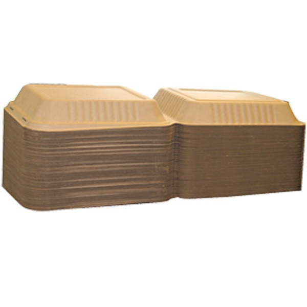 """Bridge Gate, 9"""" Hinged Food Containers, 100 Containers (Discontinued Item)"""
