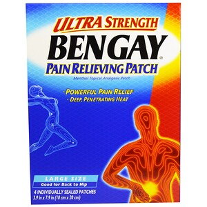 Бенгэй, Ultra Strength Pain Relieving Patch, Large Size, 4 Patches, 3.9 in x 7.9 in (10 cm x 20 cm) отзывы покупателей