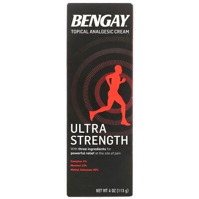 Купить Bengay Крем для местного обезболивания, сверхсильный, 4 унц. (113 г)