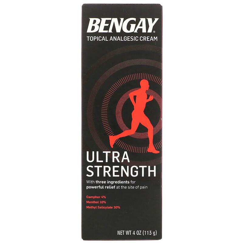 Bengay, 外用鎮痛霜,效力強,4盎司(113克)