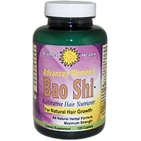 Biomed Health Inc., Advanced Women's Bao Shi, Restorative Hair Nutrients, 120 Caplets (Discontinued Item)