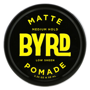Byrd Hairdo Products, Matte Pomade, Medium Hold, 3.35 oz (99 ml)