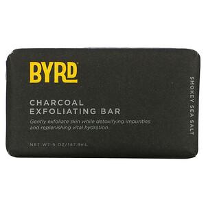 Byrd Hairdo Products, Charcoal Exfoliating Bar Soap, Smokey Sea Salt, 5 oz (147.8 ml)