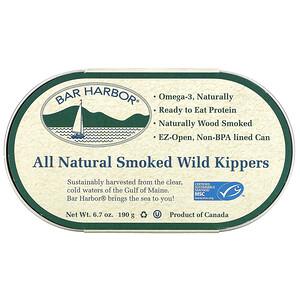 Bar Harbor,  All Natural Smoked Wild Kippers, 6.7 oz (190 g)'