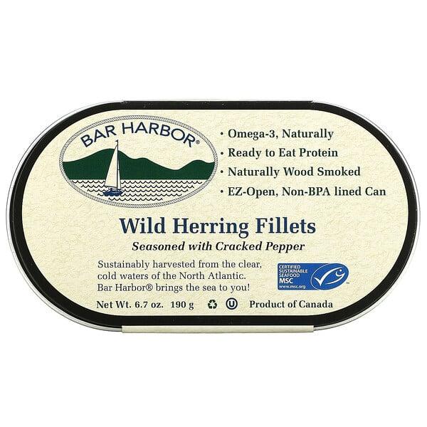 Wild Herring Fillets Seasoned with Cracked Pepper, 6.7 oz (190 g)