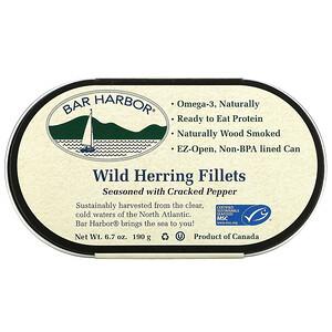 Bar Harbor, Wild Herring Fillets Seasoned with Cracked Pepper, 6.7 oz (190 g)'