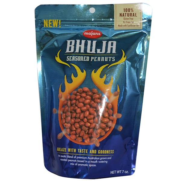 Bhuja, Seasoned Peanuts, 7 oz (199 g) (Discontinued Item)