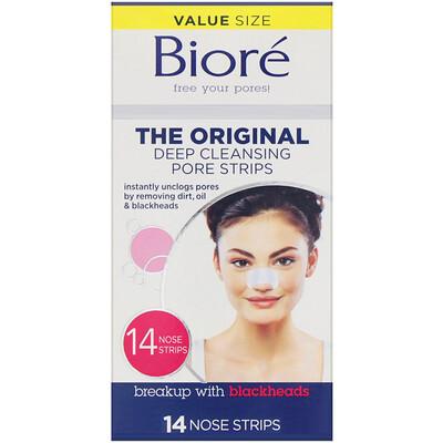 Купить Biore оригинальные полоски для глубокого очищения пор, 14полосок для носа