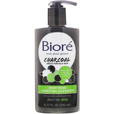 Купить Biore Средство с углем для глубокого очищения пор, 200мл