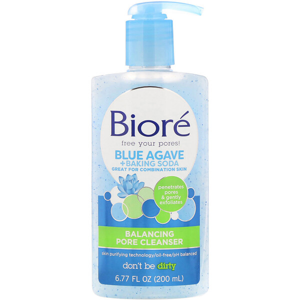 Balancing Pore Cleanser, Blue Agave + Baking Soda, 6.77 fl oz (200 ml)