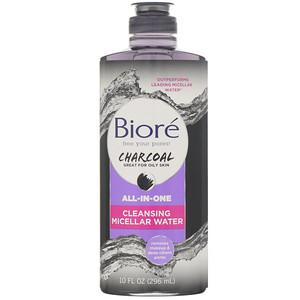 Biore, All-in-One Cleansing Micellar Water, Charcoal, 10 fl oz (296 ml) отзывы покупателей