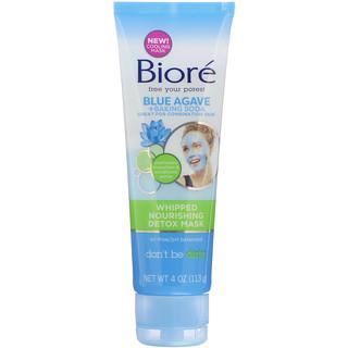 Biore, Máscara batida nutritiva desintoxicante, Agave azul + bicarbonato de sodio, 113g (4oz)