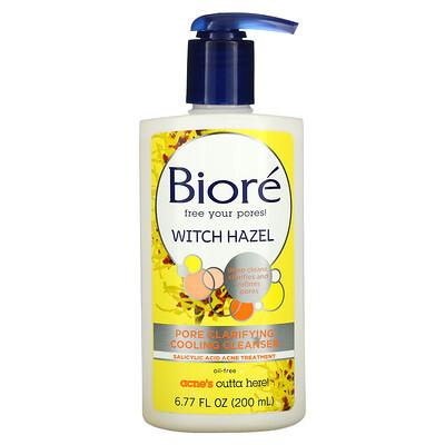 Biore Pore Clarifying Cooling Cleanser, Witch Hazel, 6.77 fl oz (200 ml)