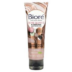 Biore, Gentle Pore Refining Scrub,薔薇石英 + 木炭,4 盎司(113 克)