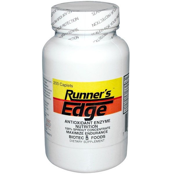 Biotec Foods, Runner's Edge, Antioxidant Enzyme Nutrition, 200 Caplets (Discontinued Item)