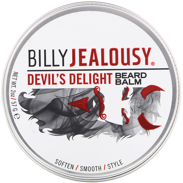 Billy Jealousy, بلسم اللحية، Devils Delight، بحجم 2 أونصة (57 جم)