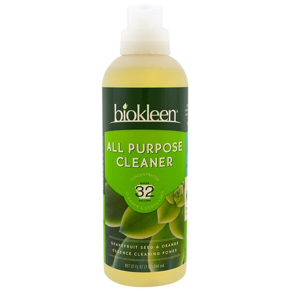 Bio Kleen, All Purpose Cleaner, Concentrated, Grapefruit Seed & Orange, 32 fl oz (946 ml) (Discontinued Item)