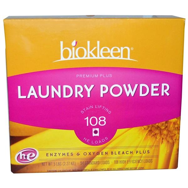 Bio Kleen, Стиральный порошок Premium Plus, плюс энзимы и кислород морского побережья, 5 фунтов (2.27 кг) (Discontinued Item)