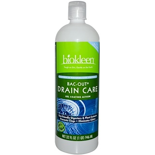 Bio Kleen, Bac-Out Drain Care, Gel Coating Action, 32 fl oz (946 ml)