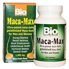 Bio Nutrition, Maca Max, 1,000 mg, 30 Tablets