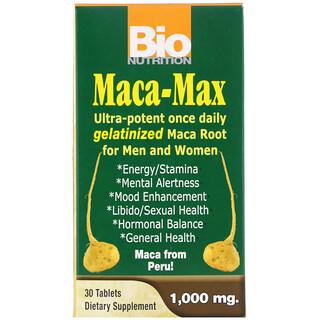 Bio Nutrition, Maca Máxima, 1.000 mg, 30 comprimidos