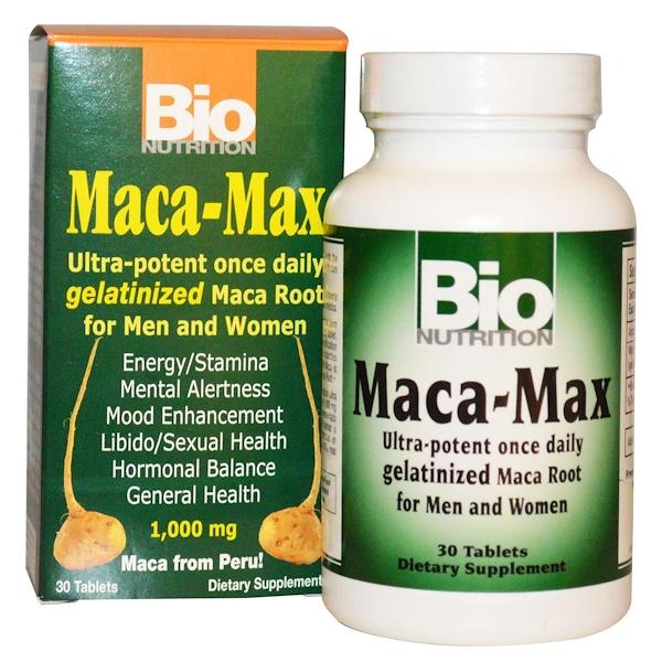 Bio Nutrition, ماكا ماكس، 1000 مجم، 30 قرص