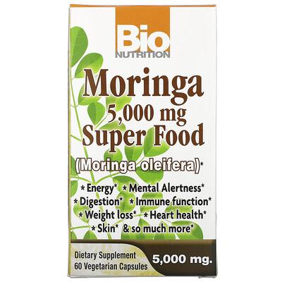 Купить Bio Nutrition Moringa Super Food, 500 мг, 60 растительных капсул