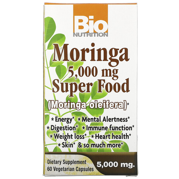 Moringa Super Food, 5,000 mg, 60 Vegetable Capsules