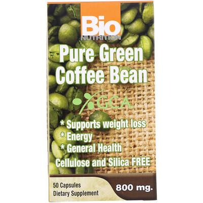 Чистый зеленый кофе в зернах, 800 мг, 50 капсул  - купить со скидкой