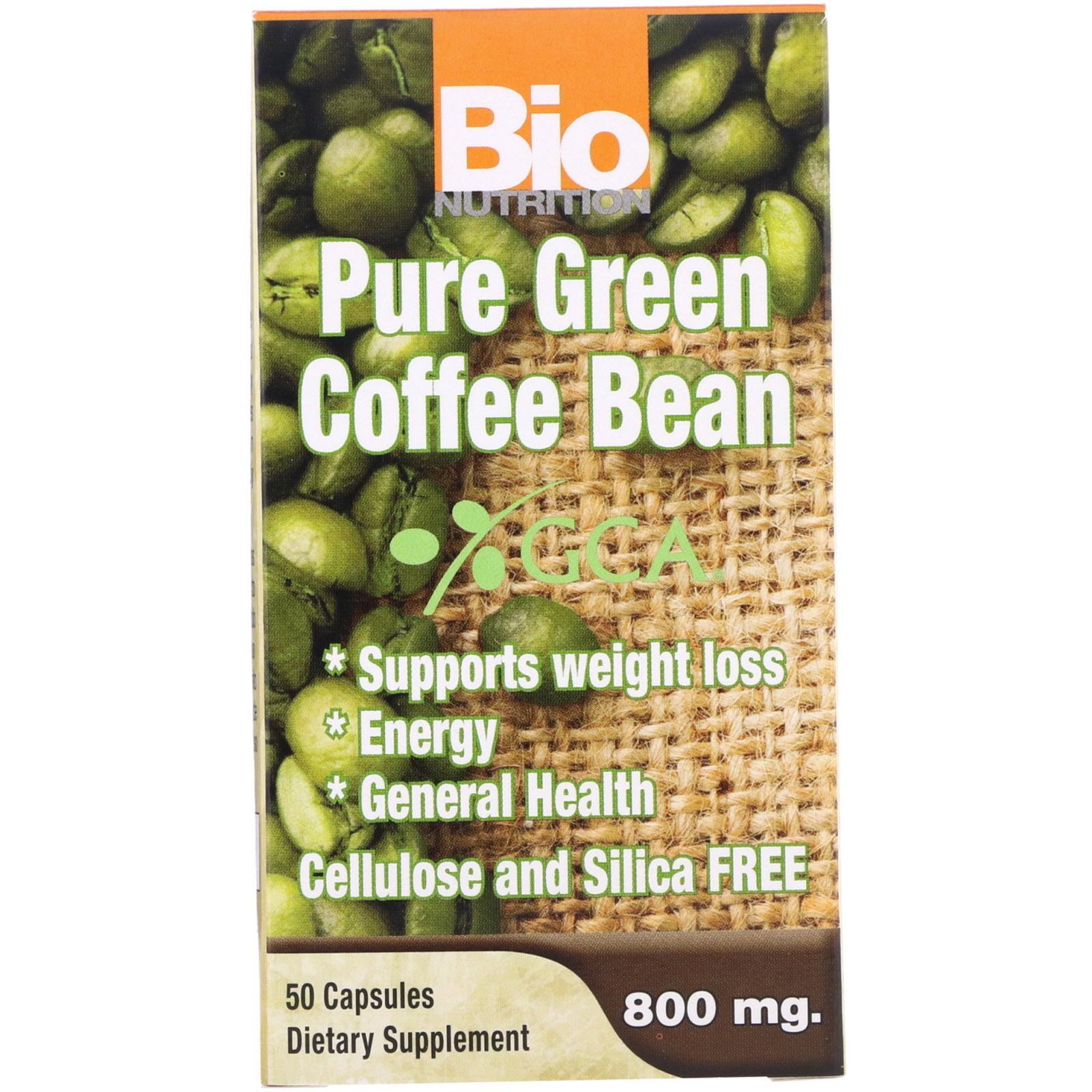 Bio Nutrition Pure Green Coffee Bean 800 Mg 50 Capsules Iherb