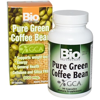 Bio Nutrition, Pure Green Coffee Bean, 800 mg, 50 Capsules