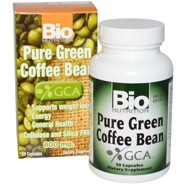 Bio Nutrition, Pure Green Coffee Bean, 800 mg, 50 Capsules