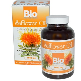 Bio Nutrition, Сафлоровое масло, 1000 мг, 90 капсул