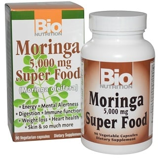 Bio Nutrition, Moringa Super Food, 5,000 mg, 90 Veggie Caps