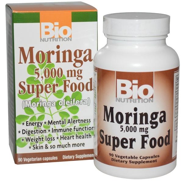 Bio Nutrition, 辣木超級食物素食膠囊,5,000毫克,90 粒